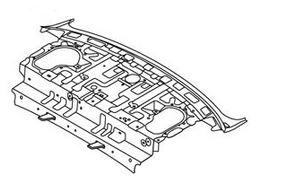 Полка задняя металлическая (седан) Geely MK 1012003880