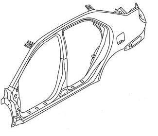 Панель кузова правая (седан) Geely MK 101200467402