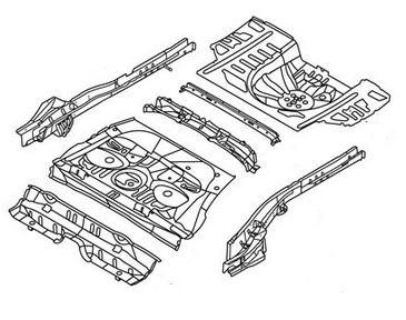 Пол + багажник в сборе (седан) Geely MK 1012005270