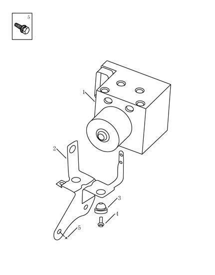 Блок ABS (нового образца) Geely MK 1014003650