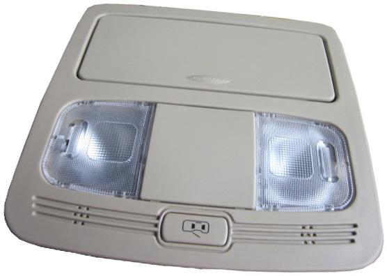 Плафон освещения салона передний (бежевый) Geely X-7/EC-8 1017001455