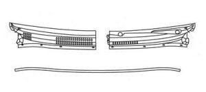 Уплотнитель накладки механизма стеклоочистителя Geely MK 1018005842