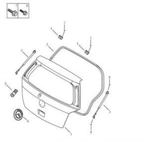 Амортизатор крышки багажника левый (хетчбэк) Geely MK-2 101800620252