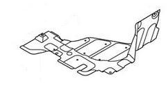 Защита двигателя пластиковая правая (нового образца) Geely MK 1018011470