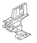 Защита двигателя пластиковая левая (нового образца) Geely MK 1018011472