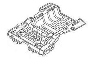 Задняя часть багажника (металл) Geely CK 106201002001