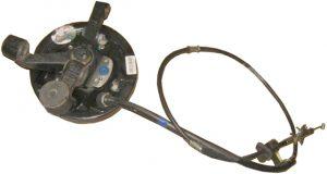Тормозной механизм заднего левого колеса в сборе (с ABS, конусный подшипник) Geely CK 3502070180