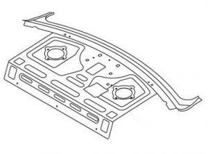 Задняя полка (металл) Geely CK 5609031180
