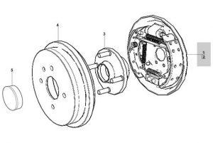 Барабан тормозного механизма левый в сборе Chery Forza А13 A13-3502010