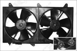Вентилятор охлаждения (2.4 л.) Chery Eastar B11-1308010