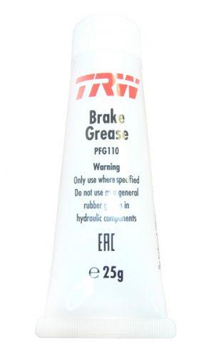 Смазка для направляющих пальцев и поршня суппорта с резинками TRW 25g