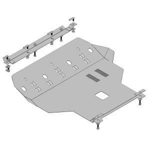 Защита двигателя металлическая KOLCHUGA 1.6l Chery Amulet 1.0081.00
