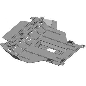 Защита двигателя металлическая KOLCHUGA 1.5l (2012-до н.в.) Chery Amulet 1.0485.00