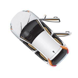 Кузовное правое стекло (заднее дверное) Джип Compass (2007-)